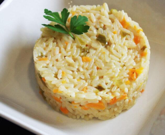 arroz meloso con verduras y queso