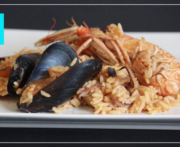 arroz con cigalas y sepia