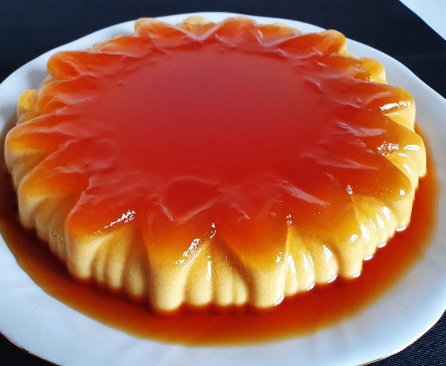 pastel de naranja y caramelo